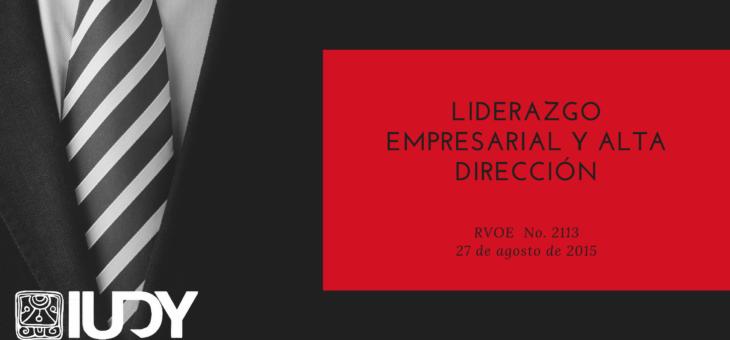 Licenciatura en Liderazgo Empresarial y Alta Dirección